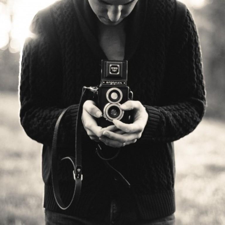 black-and-white-man-person-camera
